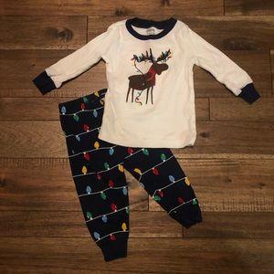 • baby reindeer pajamas •